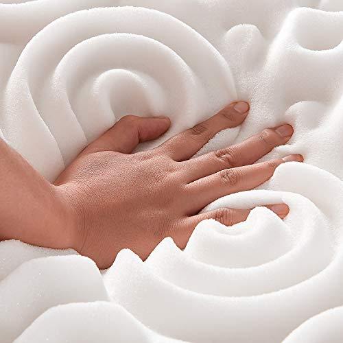 NOFFA 10 Zones Surmatelas en Mousse à mémoire -Design Ergonomique -Très Respirant (80 * 200 cm)