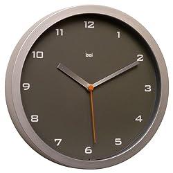 Bai 834.GC Designer Wall Clock, Gotham Charcoal