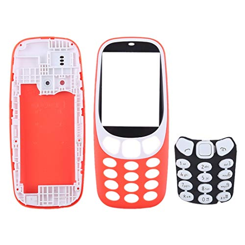 Digitaal Volledige Assembly behuizing met toetsenbord for Nokia 3310 Accessory (Color : Red)