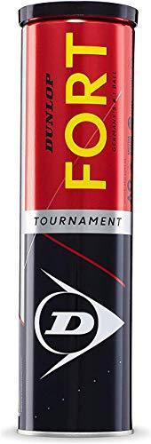 Dunlop - Fort Tournament - Tennisbälle - 16 Bälle (4 Dosen mit 4 Bällen) - gelb - Turnierball - 5013317102027