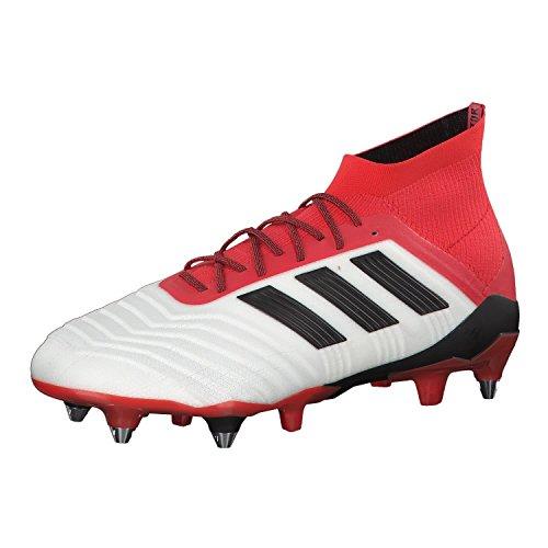 adidas Predator 18.1 SG, Scarpe da Calcio Uomo, Bianco Ftwwht/Cblack/Reacor, 42 EU