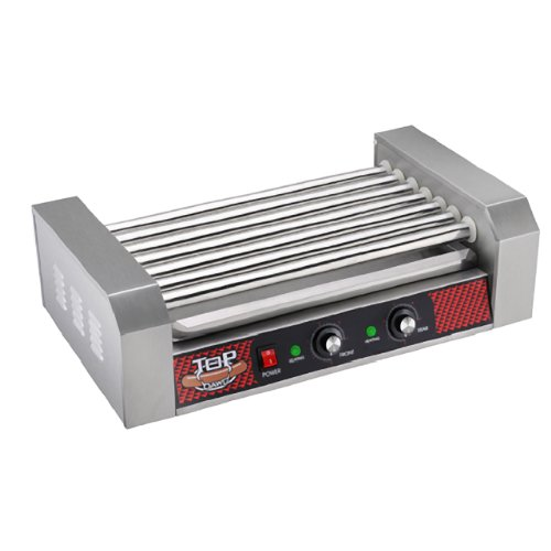 Great Northern Popcorn Company 4078 GNP Hotdog 7 Roll Hot Dog Roller Machine, Stainless
