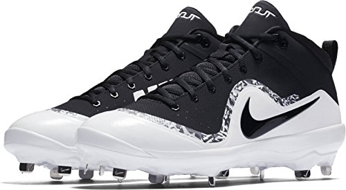 Nike Men's Force Air Trout 4 Pro Baseball Cleat Black/White/Wolf Grey Size 13 M US