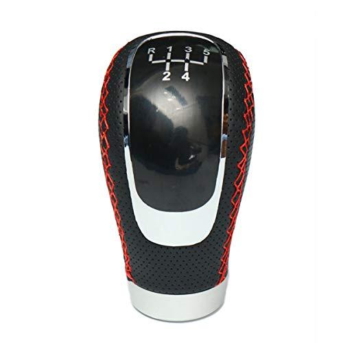C-FUNN Universele Zwarte PU Lederen Handleiding Auto Gear Shift Knop Shifter Hendel Handvat Stick