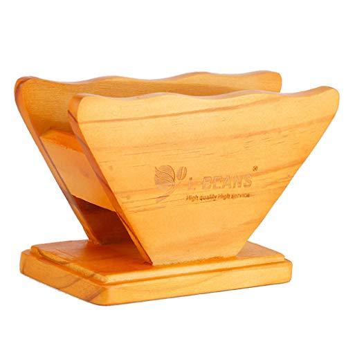F Fityle Holz Filtertütenbehälter Filtertütenhalter Kaffeefilterhalter Kaffeefiltertütenspender