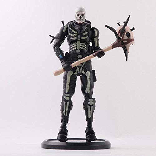 Modelo De Animefortress Night Battle Royale Skull Trooper Figura De Acción Juguetes Personaje del Juego PVC Figura 18Cm