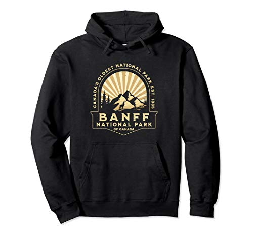 Banff National Park of Canada Retro Vintage Souvenir Gift Pullover Hoodie