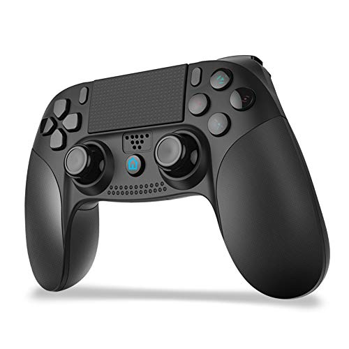 「2021最新型」JOYSKY PS4 コントローラー ワイヤレス 最新バージョン Bluetooth リンク遅延なし 500mAh ジャイロセンサー機能 イヤホンジャック ゲームパット 搭載 二重振動 高耐久ボタン PS3/PC対応 コントローラー 日本語取扱説明書 (ブラック)