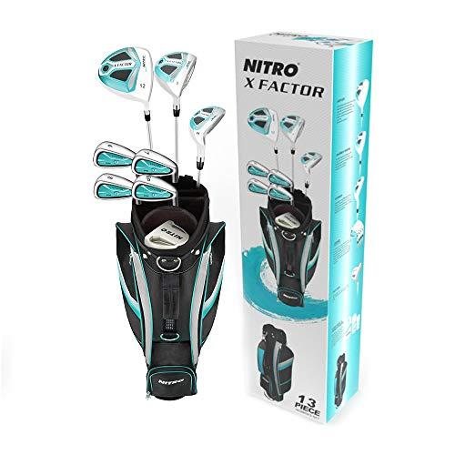 Nitro X Factor Golf Set Ladies, Right Hand, Silver