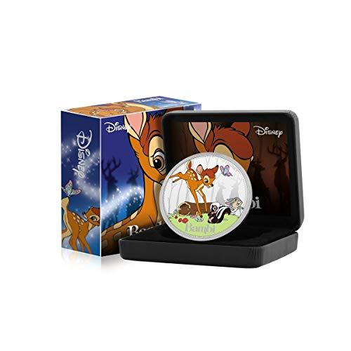 FANTASY CLUB Disney Bambi Edición Luxe - Moneda / Medalla bañada en Plata .999 - 65mm