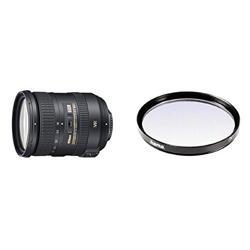 Nikon AF-S DX 18-200mm F3.5-5.6 G ED VR II - Objetivo con montura para Montura F de Nikon (distancia focal 27-300mm , apertura f/3.5, estabilizador de imagen) + Hama 070072 Filtro ultravioleta, 72 mm