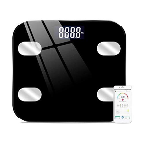 qwe XISABCS Báscula de baño Inteligente, Bluetooth Monitor de Grasa Corporal Báscula, IMC Clave Digital Composición Analizador de Peso, Grasa, Masa Muscular (Color : A)