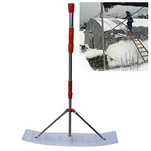 SSRSHDZW Dachschneeräumer Kunststoff Snowboard Aluminiumlegierung Schneesand Schlammentfernungswerkzeug für Auto Schneeschaufel Outdoor Camping und Garten, abnehmbare Konstruktion