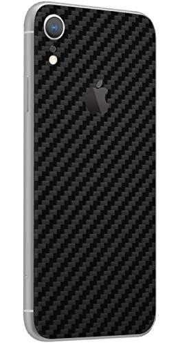TKCase iPhone XR Skin Schutzfolie Rückseite Aufkleber Wrap Carbon,Shadow. (Carbon Schwarz)