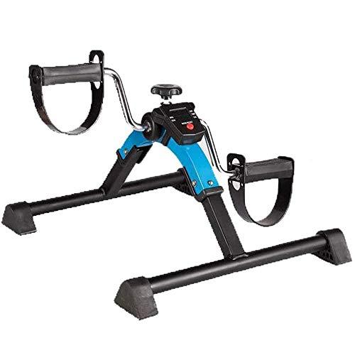 UIZSDIUZ Plegable Mini LCD Bicicleta estática portátil Pedal Cubierta ejercitador Bicicleta Brazo Gym Fitness y Entrenador de piernas Cardio Cardio Resistencia Ajustable Inicio máquina de Fitness