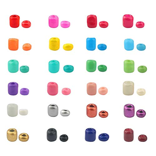 DIY jewelry set bracelet necklace jewelry making set friendship bracelets making kids beading supplies with letters glass-colored glaze pendant jewelry (approx. 5000 pieces/box)