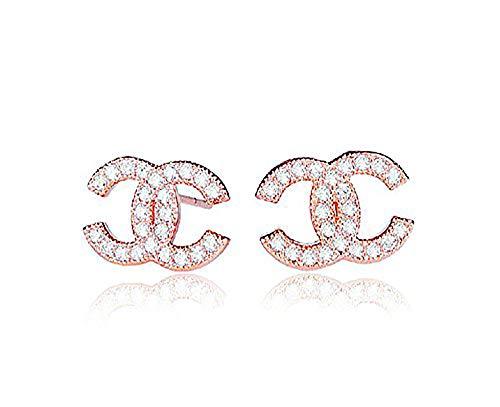 findout rosé vergoldet/Sterling Silber Cubic Zircons Goldfisch Ohrringe. Geschenk für Frauen Mädchen (F617) (Silver Earrings)