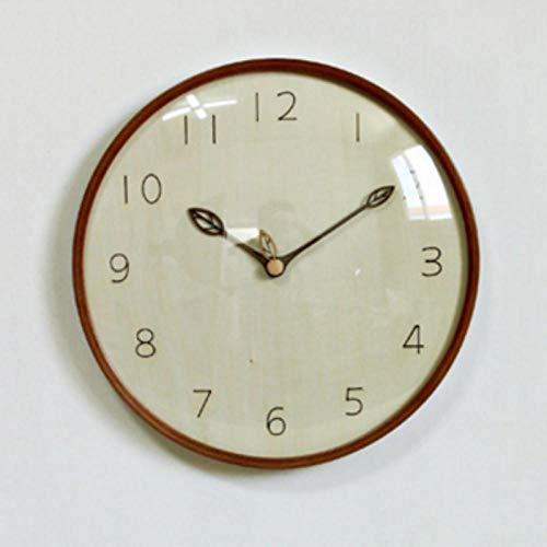 LANKOULI Atmosphärisches Glas Digitale rauscharme Uhr Blatt Stundenzeiger Wanduhr