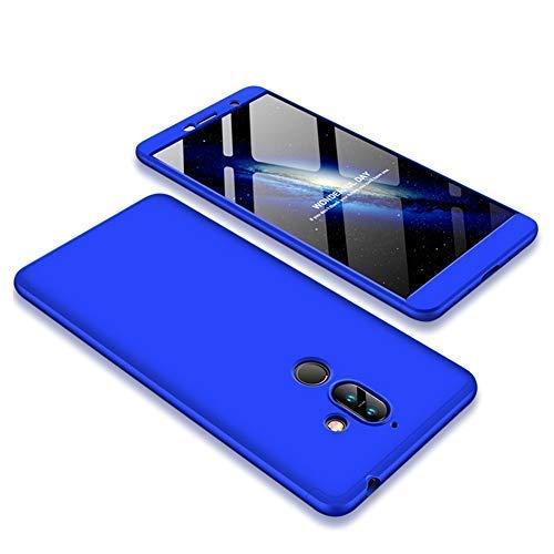 JMGoodstore Cover Compatibile Nokia 7 Plus,Custodia Nokia 7 Plus,360 Gradi Premio Ibrido Rugged 3 in 1 Duro AntiGraffio Macchia PC Custodia+Pellicola Vetro Temperato Protettiva Rosso+Nero