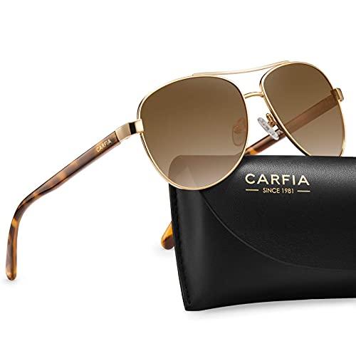 Carfia Polarized Sunglasses for Women UV Protection Ultra-Lightweight Metal Frame Sport Outdoor Sunnies CA3216
