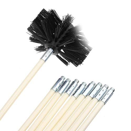 NANANA Cepillo Deshollinador para Limpiar Estufas, Se Puede Utilizar como Chimenea y Tubo de Secado de Pared Interior, Hornos de Leña, Chimeneas, Tubos de Chimeneas, Opción Multiple,C