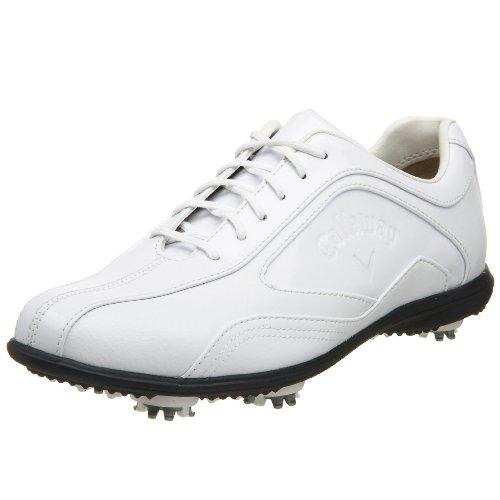 Callaway Women's Batista Golf Shoe,White/White Patent,7.5 M US