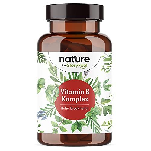 Vitamin B Komplex - Bio-Aktiv mit 500 µg B12-200 Kapseln (7 Monate) - Mit Vitamin B Bio-Aktiv Formen besonders hochdosiert (10-Fach) - Laborgeprüft, vegan ohne Zusätze in Deutschland hergestellt