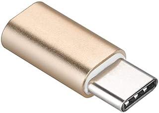 Premium Cord - Adaptador USB 3.1 (Conector C/Macho a Conector USB 2.0 Micro B/Hembra), Color Dorado