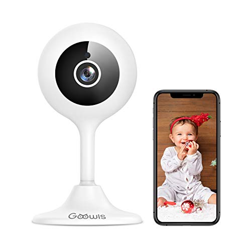 WLAN IP Kamera, Goowls 1080p HD Home Überwachungskamera WLAN Kamera Indoor Smart Baby Monitor mit Nachtsicht, Bewegungsmelder, 2-Way Audio,Haus Pet Monitor
