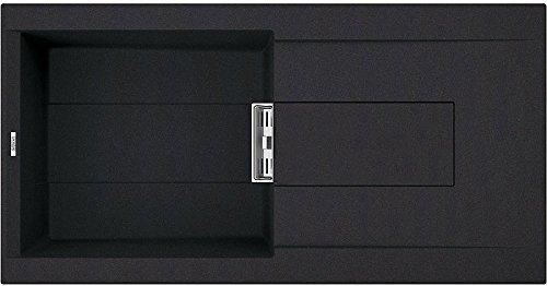 Elleci spülbecken Smart 480Composite, Stein, Schwarz V86, 100x 51.5x 22cm