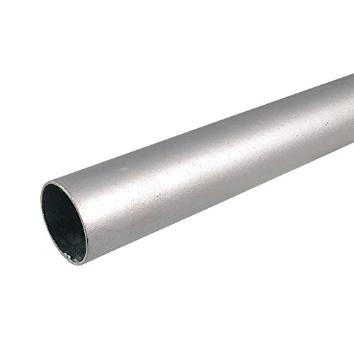 Liedeco gordijnroede gordijnroede 28 mm industriële look | zilver | 20 cm, 120 cm, 240 cm