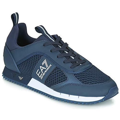 EA7 Mesh Sneaker Herren Sneaker Blau