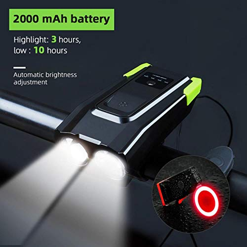 Usb Oplaadbare 800 Lumen Led-Fietsverlichting Met Luidspreker 2000Mah 4000Mah Fietslicht