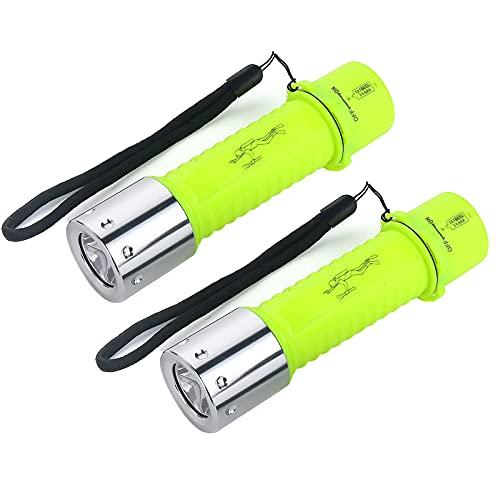 Tauch-Taschenlampe mit 3 Modi, IPX6...