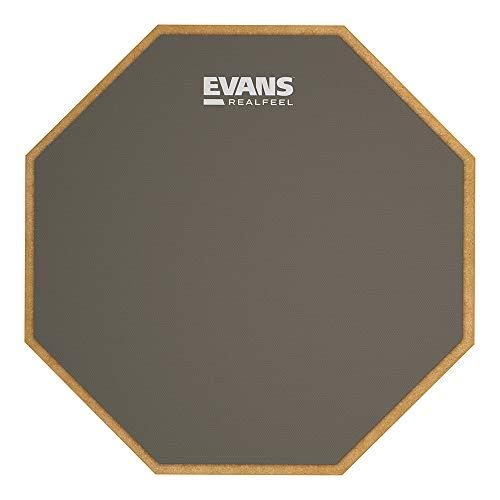 RealFeel by Evans Übungspad | Realistisches Spielgefühl | Perfekt für Zuhause und unterwegs | Angenehm weiche Oberfläche | 12 Zoll