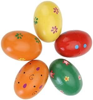 Blesiya 2 Wooden Musical Egg Shaker Set Kids Music Toy Children Learn Play Instruments