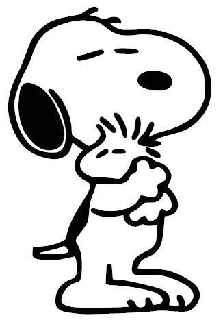 1st-Class-Designs Aufkleber Snoopy & Woodstock, 15,2 x 10,2 cm, lustige Stoßstangen-Aufkleber, Wohnmobil, Laptop, Auto, Van, Aufkleber