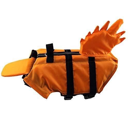 Hond Reddingsvesten Zwemvest Voor Honden Hond Jassen Voor Grote Honden Waterdichte Hond Rain Jacket Hond Jassen Waterdicht Hond Zwemmen Vest orange,S