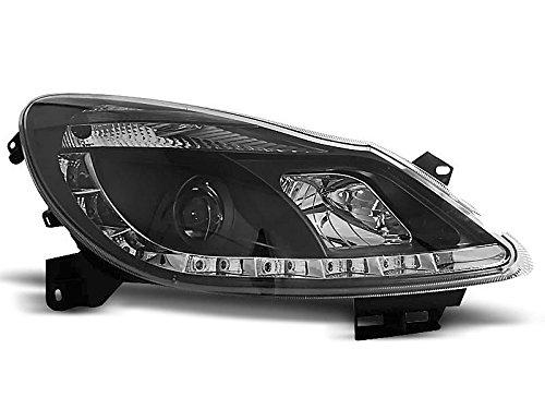 1 paar koplampen Corsa D 06-10 Daylight LED zwart (P50)