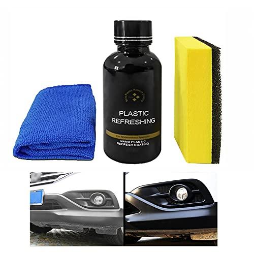 TYGHBN Liquid Car Plastic Part Retreading Agent Auto Leather&Plastic Refurbishment Paste Car Plastic Parts Reconditioning Agent (50ML)