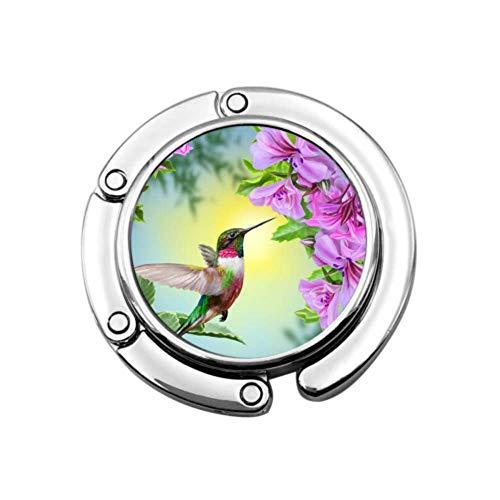 Small Bird Hummingbird On Pink Table Purse Hook Hanger Hook Hanger For...