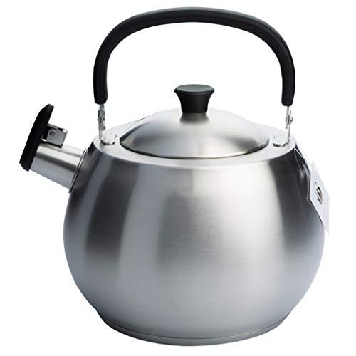 Épaississement de gaz de bouilloire en acier inoxydable 304 4,5 litres Whistle Gas Hot Cooker Gas Universal UOMUN