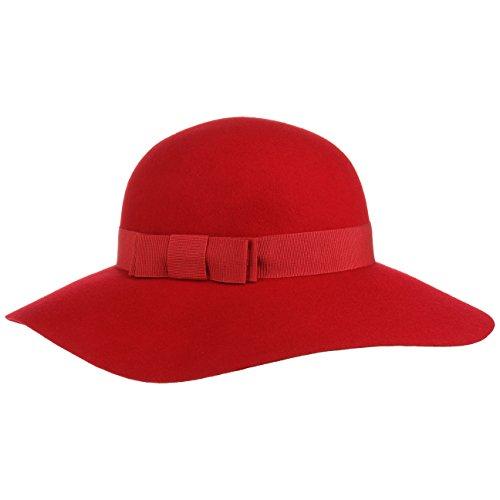 Lipodo Sombrero de ala Ancha Uni Mujer - Made in Italy con Banda Grosg