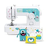Brother J14s Kindernähmaschine kullaloo Edition inkl. Fingerschutz, Stickerbogen & Anfänger-Nähset KINDERLEICHT Nähkurs Little Friends