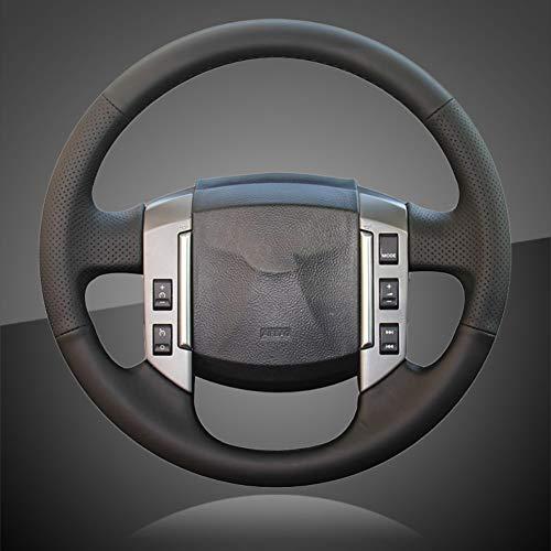 JIRENSHU Trenza del Coche en la Cubierta del Volante Cubierta del Volante automático Cubiertas de Accesorios Interiores, para Land Rover Discovery 3 2004-2009