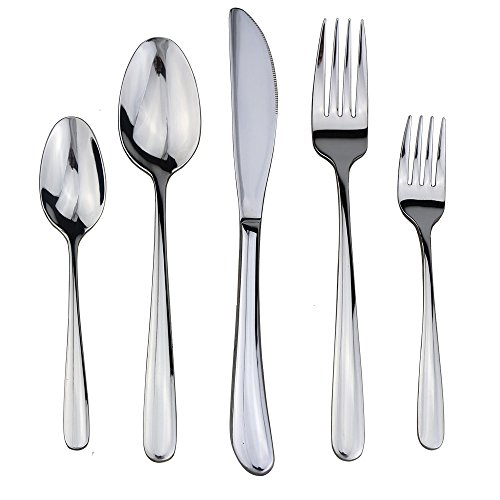 Flatware Set, Silverware, 18/10 Stainless Steel Cutlery Mirror Polished by Dealight  - Key Features