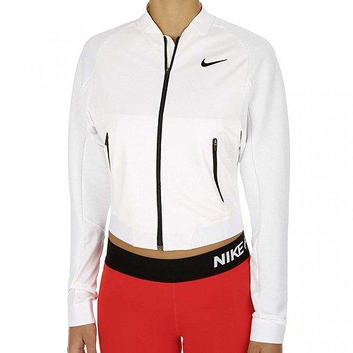 NIKE W Jacket Team Premier - Chaqueta para Mujer, Color Blanco/Negro, Talla L