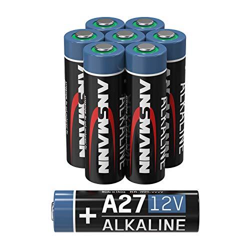 ANSMANN A27 12V Alkaline Batterie - 8er Pack MN27 Batterien geeignet für Alarmanlagen, Garagentoröffner, Fernbedienung & vieles mehr- Einwegbatterie