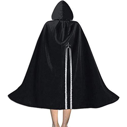 KDU Fashion Wizard Mantel, Vliegtuig Track Night Sky Kids Hooded Gepersonaliseerde Heks Mantel Capes Met Hoed Voor Kerst Vakantie Cosplay 88cm