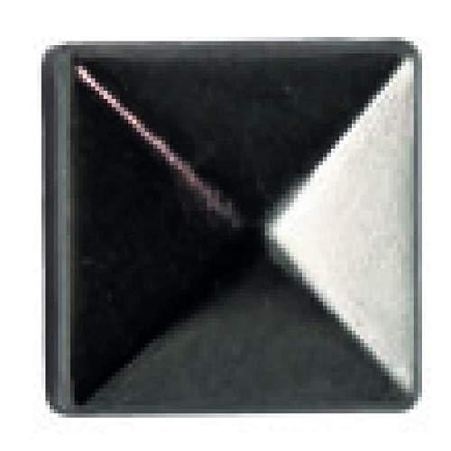 Ki-Sign Lot de 40 Griffes carrées argentées 8 x 8 mm, Métal, Noir, Sizes 14-22